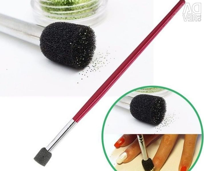 Sponge brush for gradient.