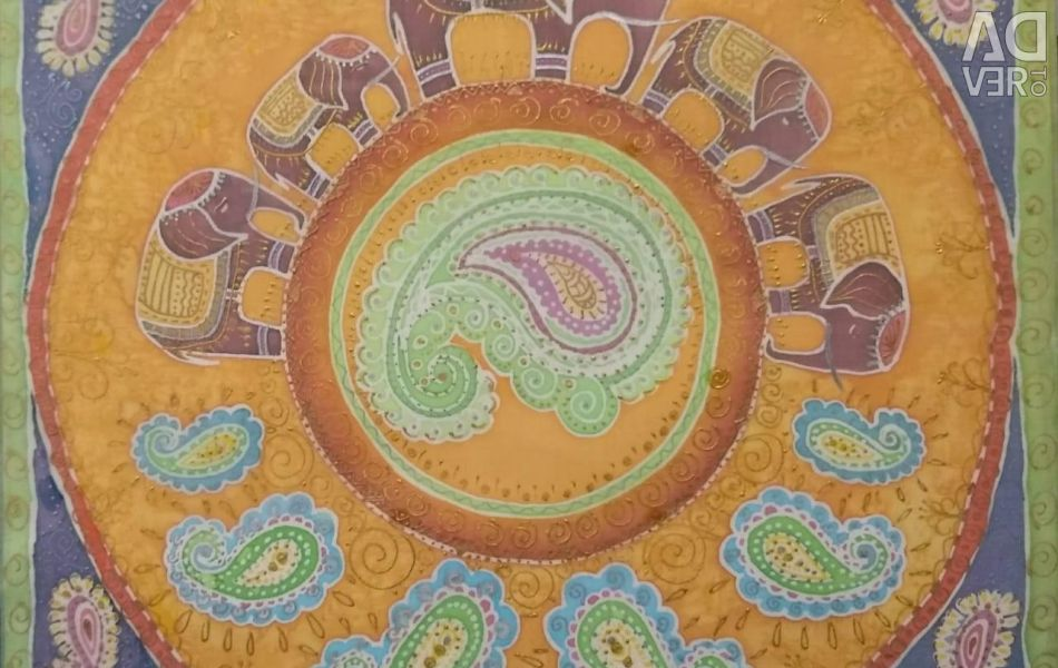 Painting Elephants 50 * 50 batik