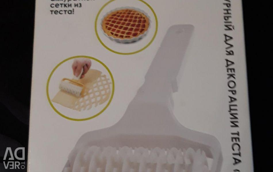 Σχήμα κυλίνδρου για τη διακόσμηση της ζύμης. Πλέγμα
