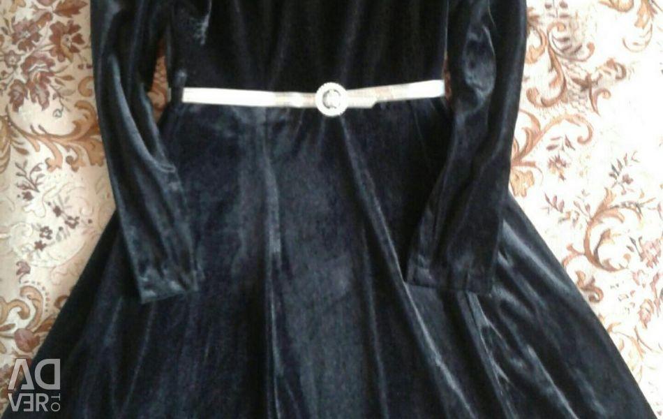 Elegant velor dress R.4-46