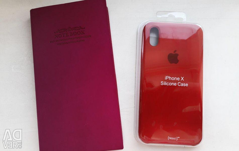 Αρχική θήκη για το iPhone X. Κόκκινο