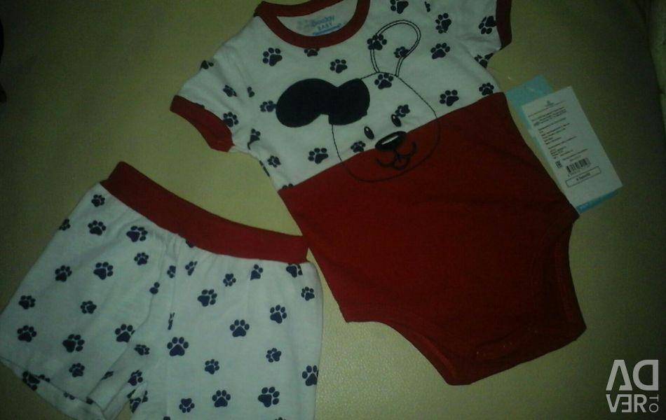 New!!! Set (body + shorts) GeeJay Baby