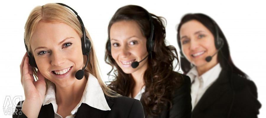 Employee in customer service department