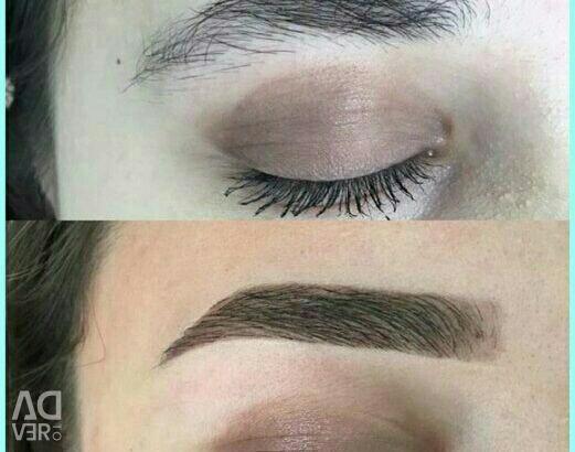 Decorations, correction, eyebrow dyeing