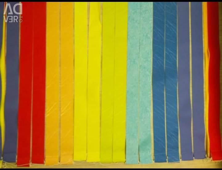 Blinds vertical rainbow colors