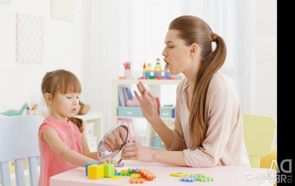 Speech therapist. Pre-school preparation.