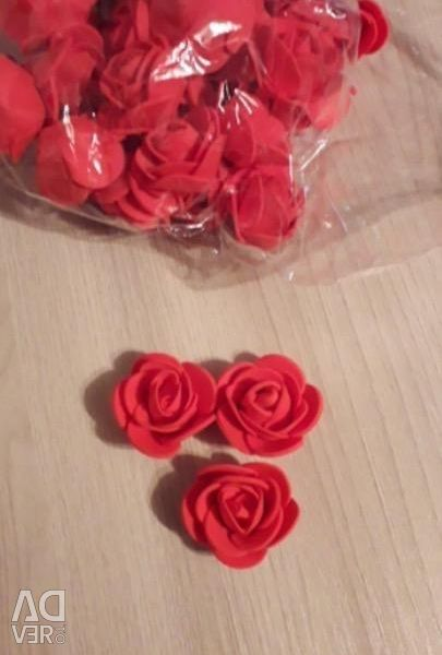 Roses from foamiran for bears