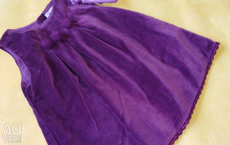 Φόρεμα βελούδο 80cm
