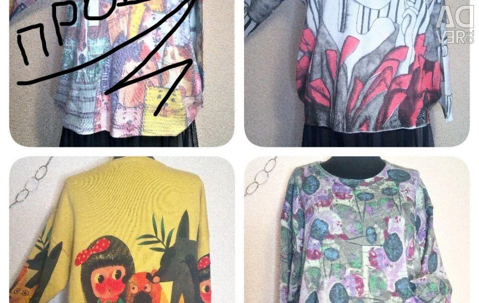 Jacket, blouseon, sweater, sweatshirt / cotton, cashmere