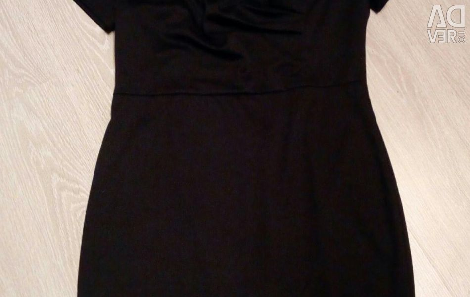 Dress evening, new, black, 52-54 rr