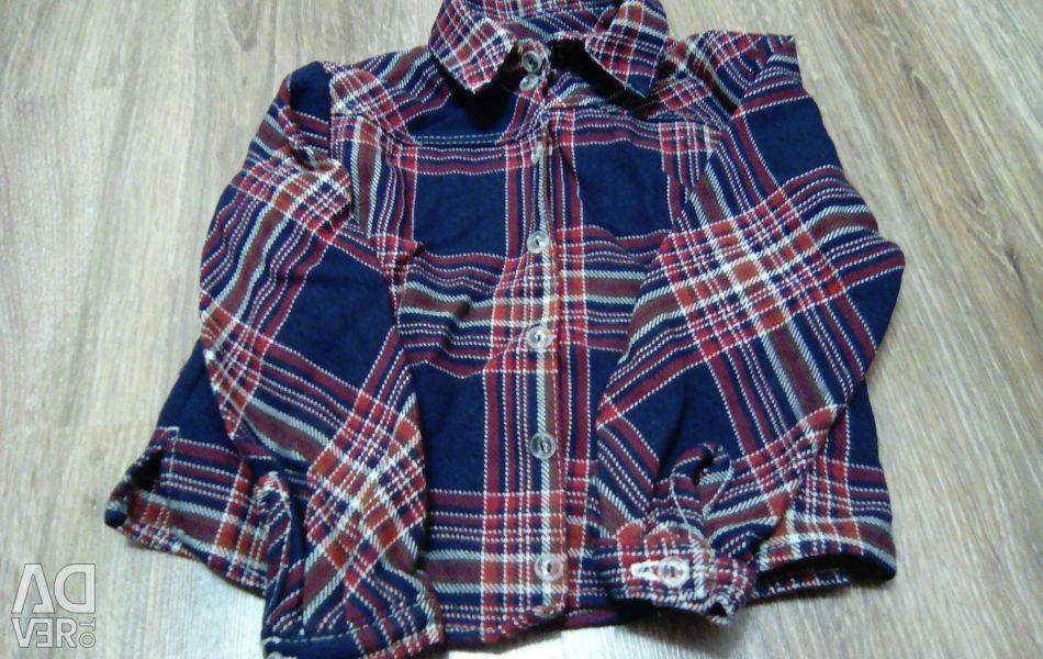 Рубашка тeплая(ткань шерсть)