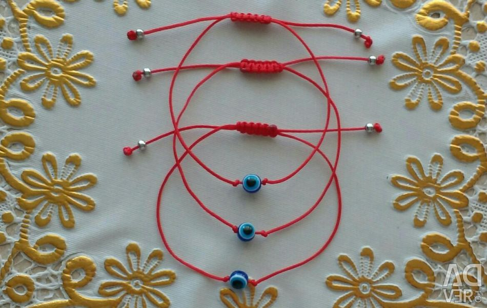 Thread against the evil eye with a floating zipper