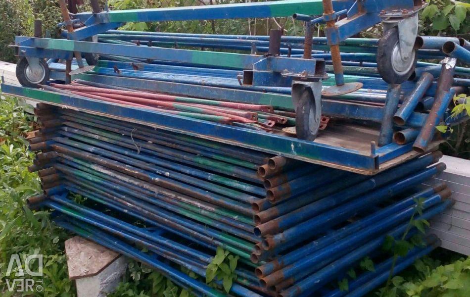 Rental of scaffolding