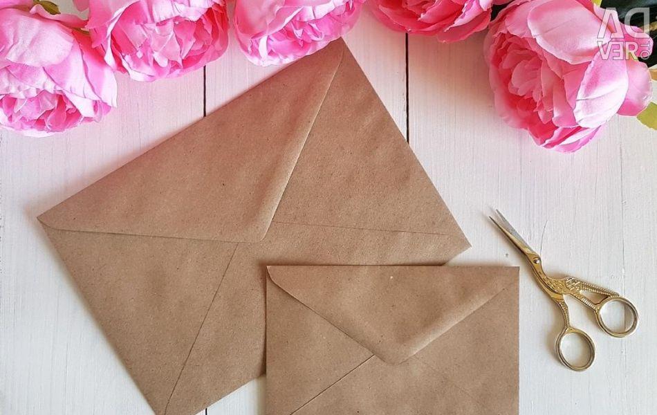 Kraft envelopes A5 and A6