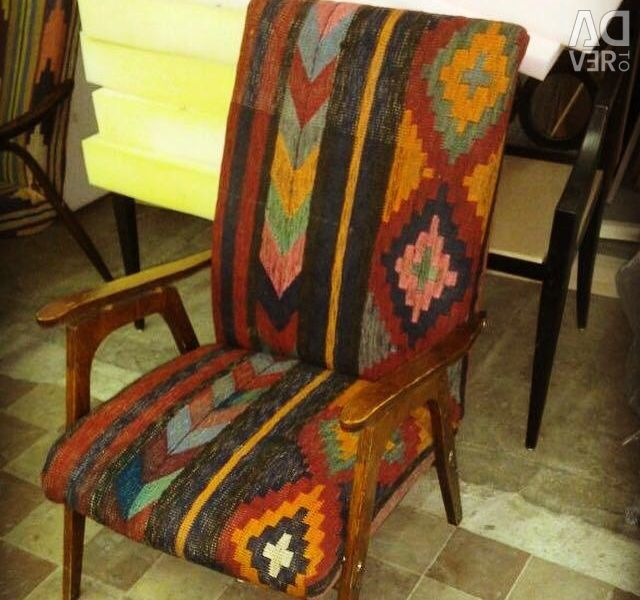 Designer vintage chair in oriental style