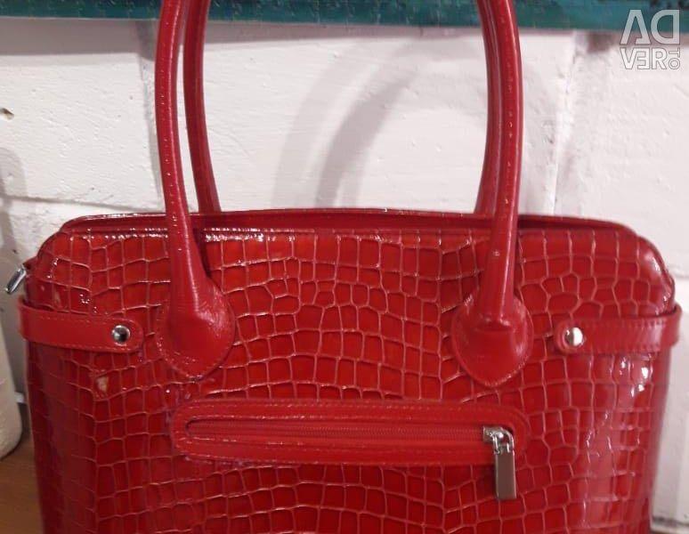 Women's genuine leather handbag