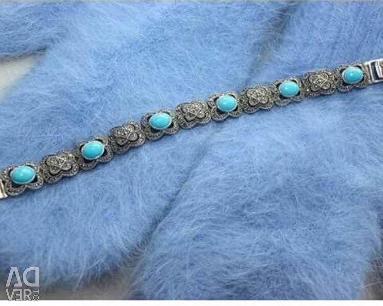 Βραχιόλι New Drip Silver τιρκουάζ κοσμήματα