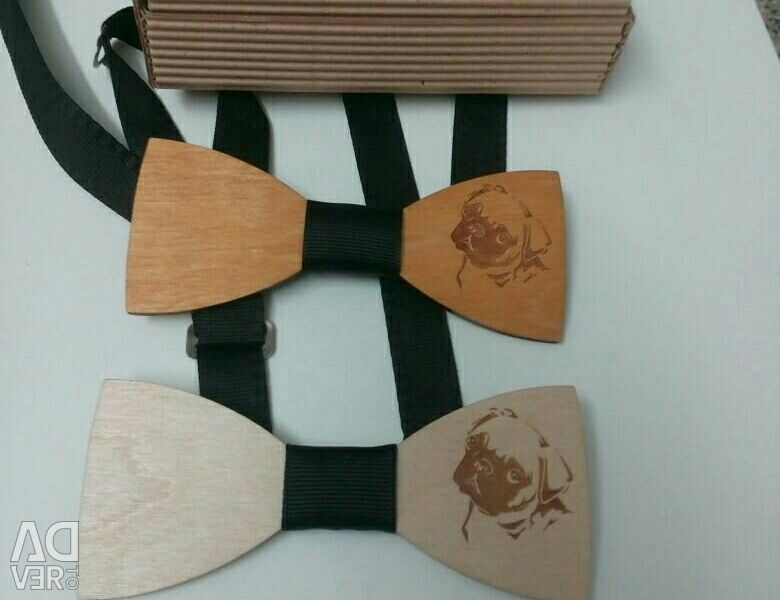 Butterfly tie made of wood