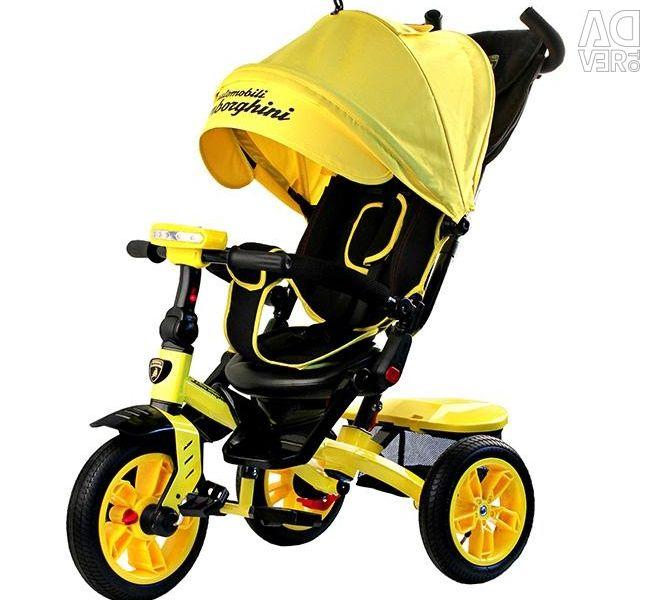 Noul Lamborghini L5 bicicletă triciclu galben