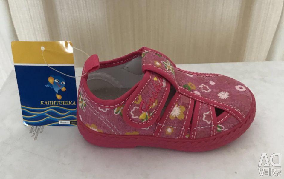 Sandals for girls KAPITOSHKA