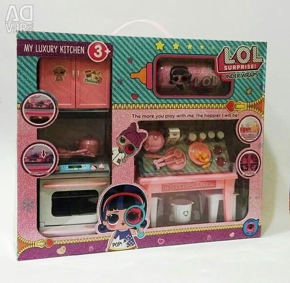 Нова Набір Лялька LOL Кухня з плитою