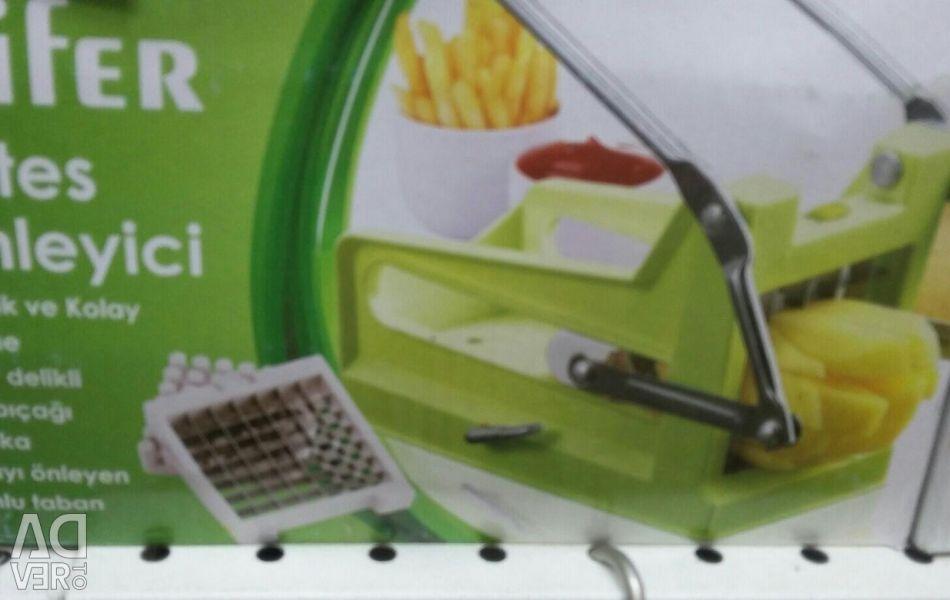 Cuțit pentru tăierea cartofilor prăjiți