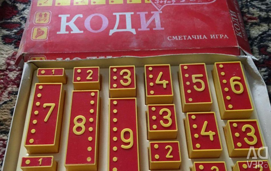 Rare joc de matematica KODI Bulgaria URSS 70 s