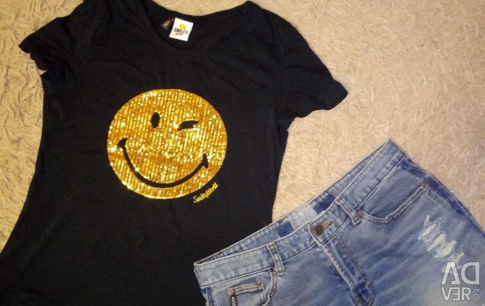 T-shirt and skirt