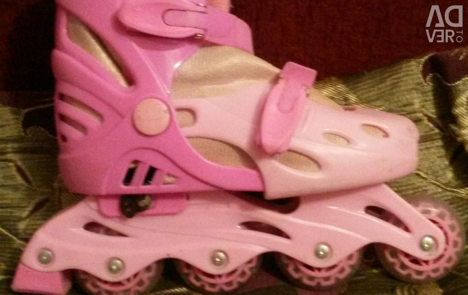The rollers are pink.