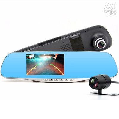 Видеорегистратор с камерой заднего вида HD