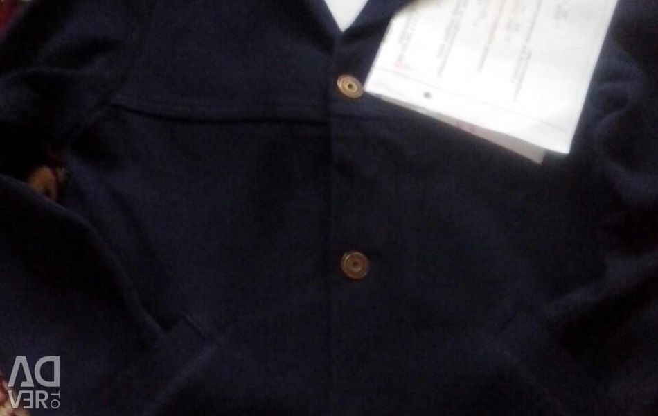 Wool jacket with pockets for school