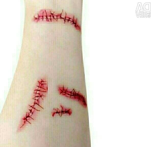Tattoo Temporary Scars