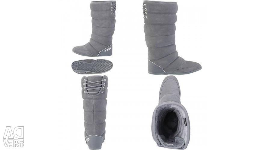 Νέες μπότες από φυσικό σουέντ αδιδά