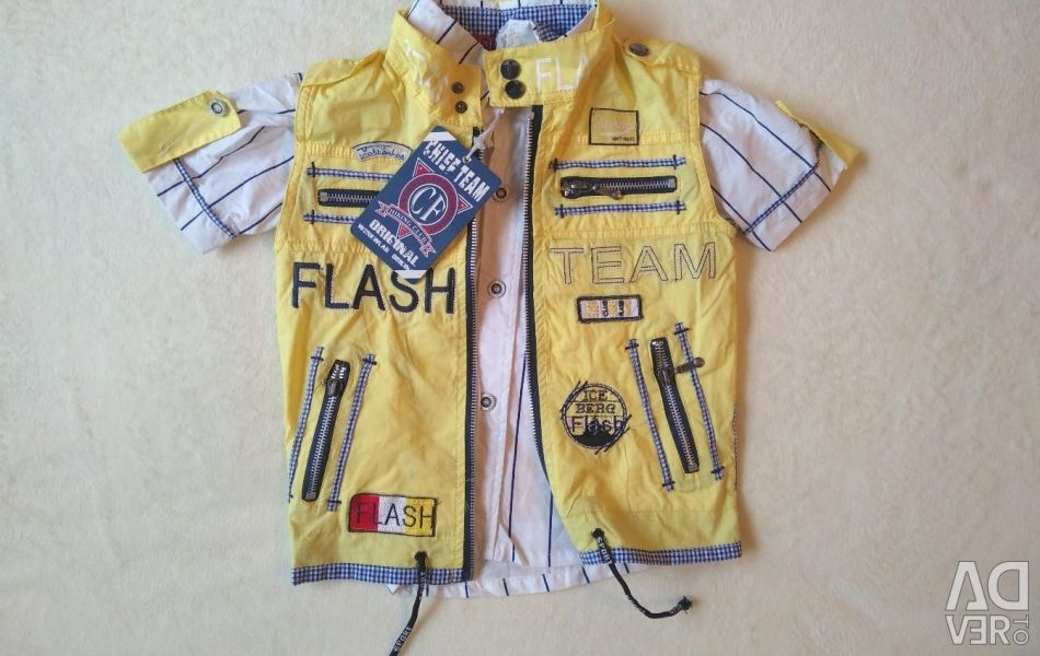 Shirt + vest for a boy. New!
