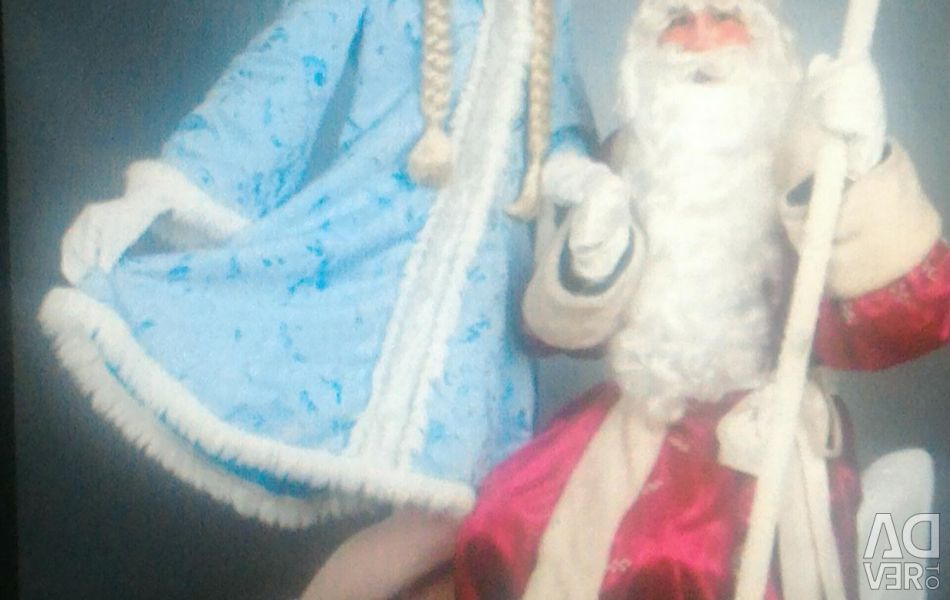 ? Santa Claus and Snow Maiden Costume Sweet couple
