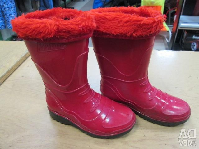 Rubber boots with insulation