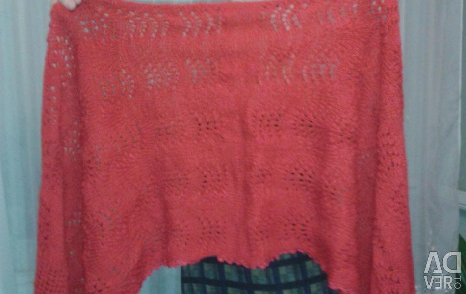 Handmade knitted woolen stole