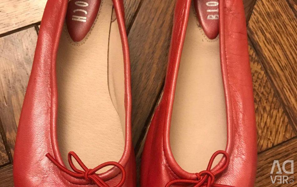 Bloch Red Ballet Flats