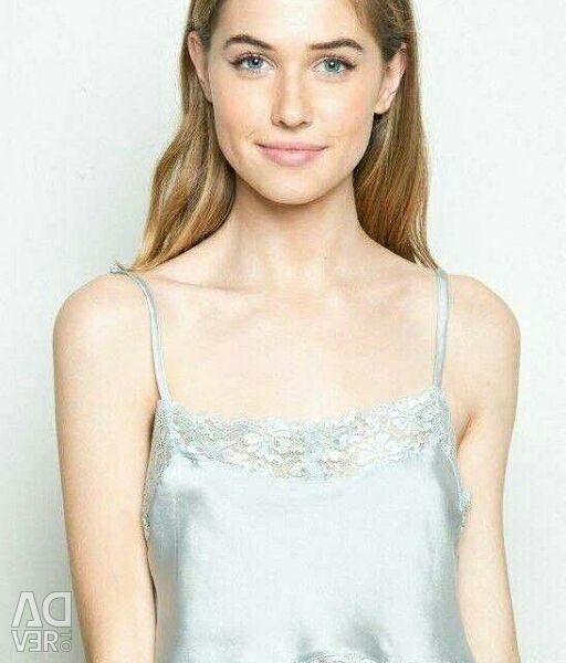 Delicate lace top in lingerie style.