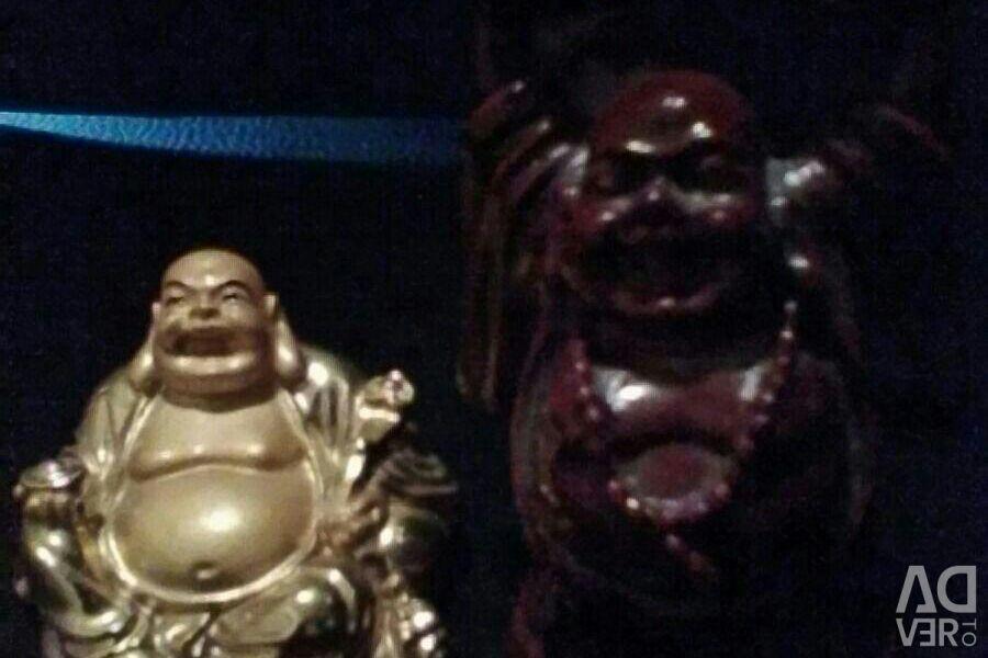 2 статуэтки золотая и тeмно-бардовая
