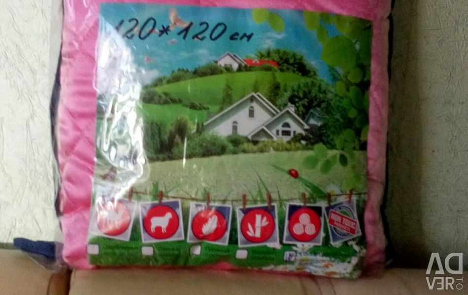 Satin blanket-bedspread 120 * 120 cm