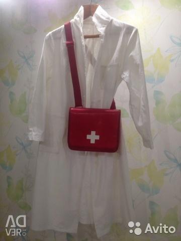 Bag with a white cross on Halloween / halloween