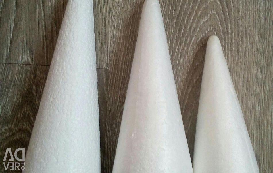 Cones styrofoam christmas tree