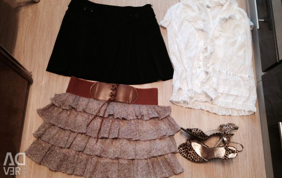 Skirts and blouse and Bassanožki