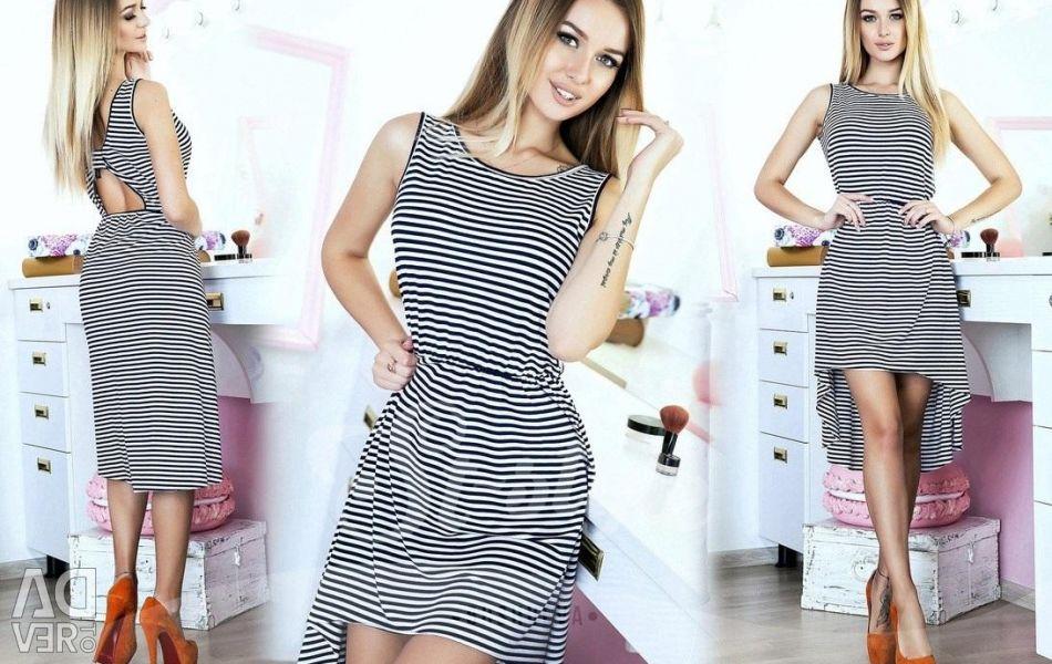 Çizgili yeni elbise