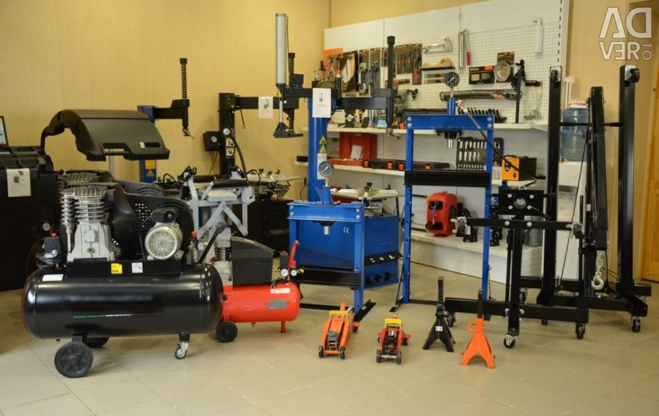 Buy used equipment and tools for service stations