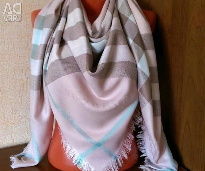 Pink scarf Burberry 140 × 140