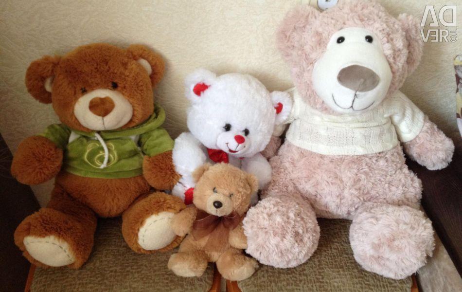 Bears new soft toys