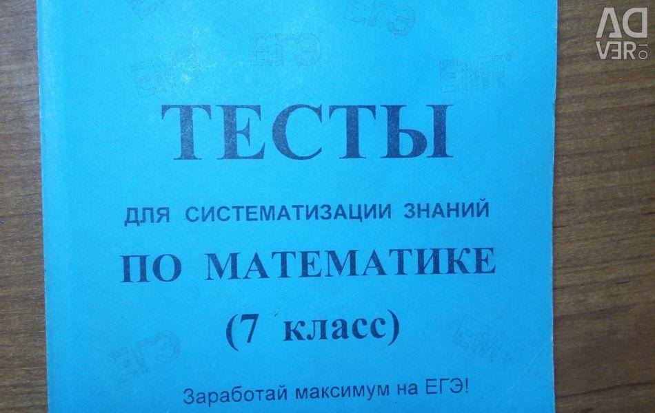 Math Tests. 7th grade