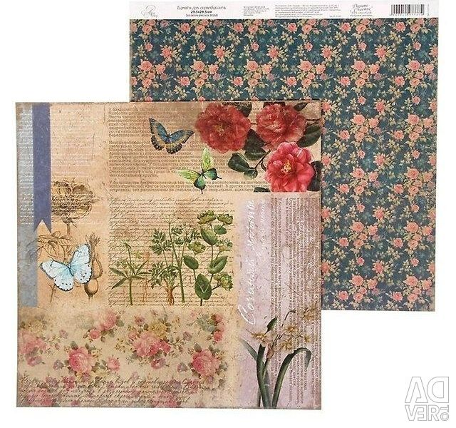 Paper for scrapbooking